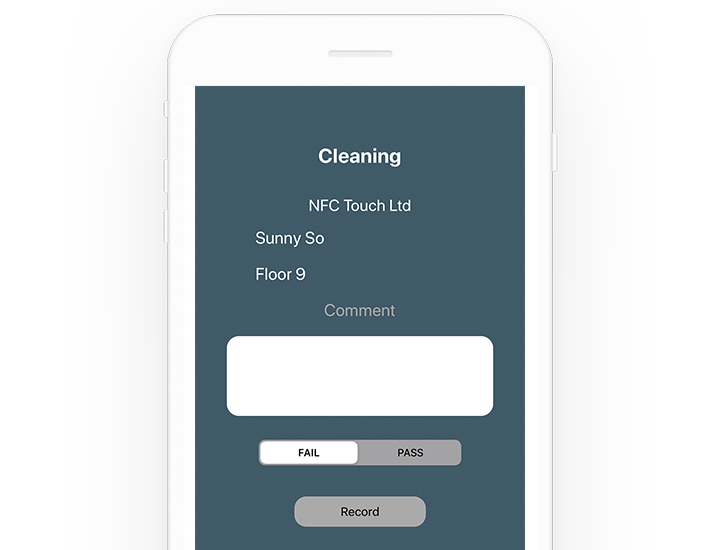 mobile form with nfc